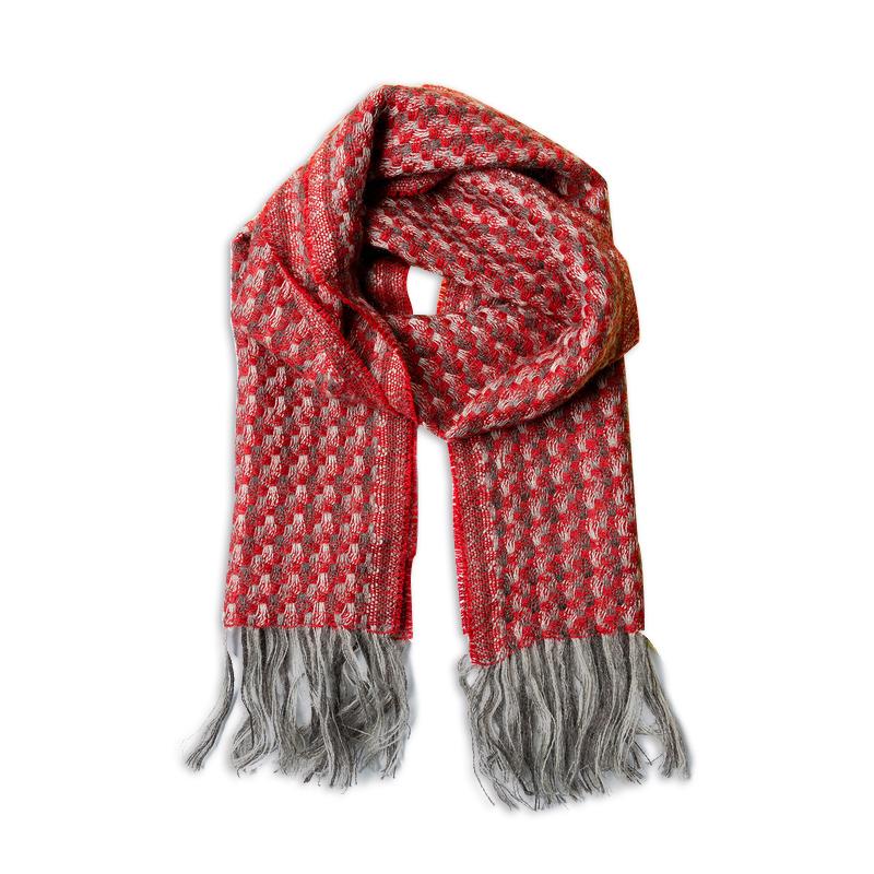 新西兰原产Stansborough指环王系列灰羊毛贝壳杉编织围巾 大红