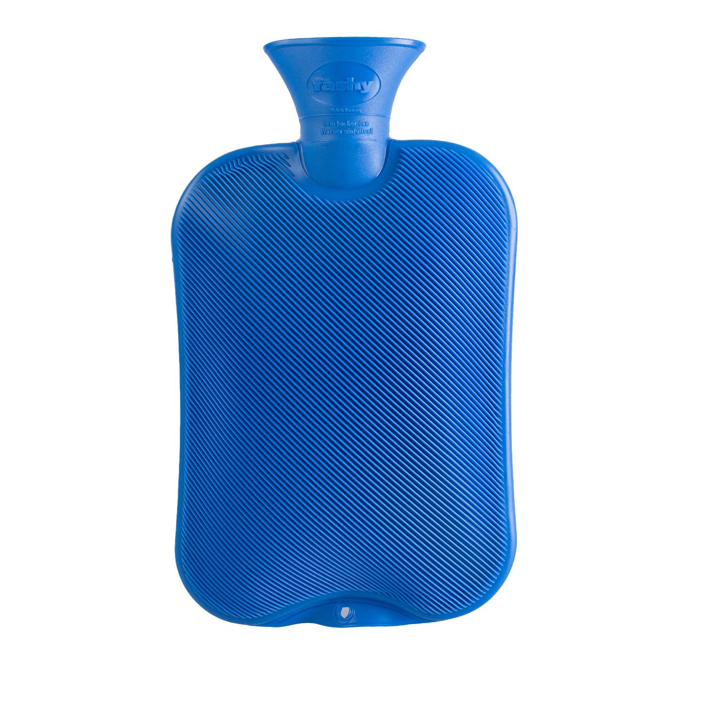 德国原产fashy注水防爆热水袋暖手宝暖水袋 斜条纹 深蓝