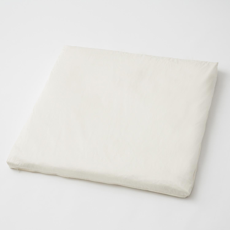 德国原产Mudis有机全棉缎婴儿垫坐垫床垫垫子 白色