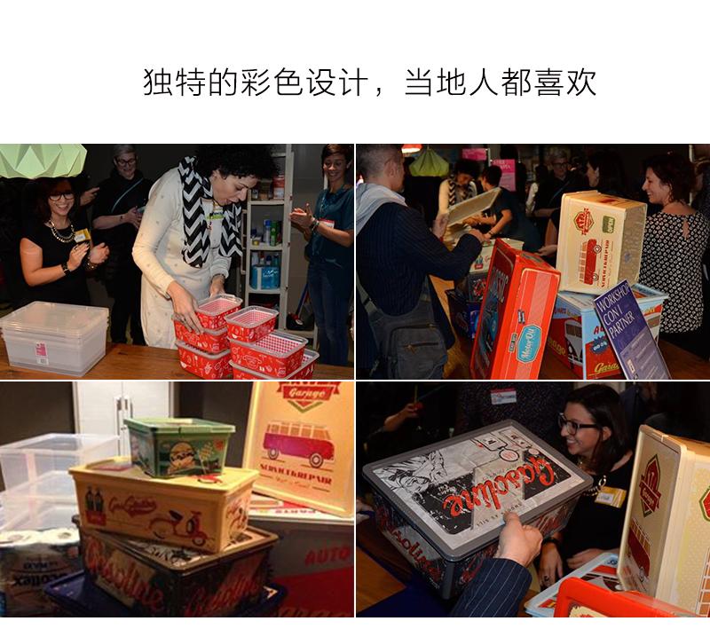 意大利KIS食品级环保材质漫画玩具收纳盒储物箱周转箱S