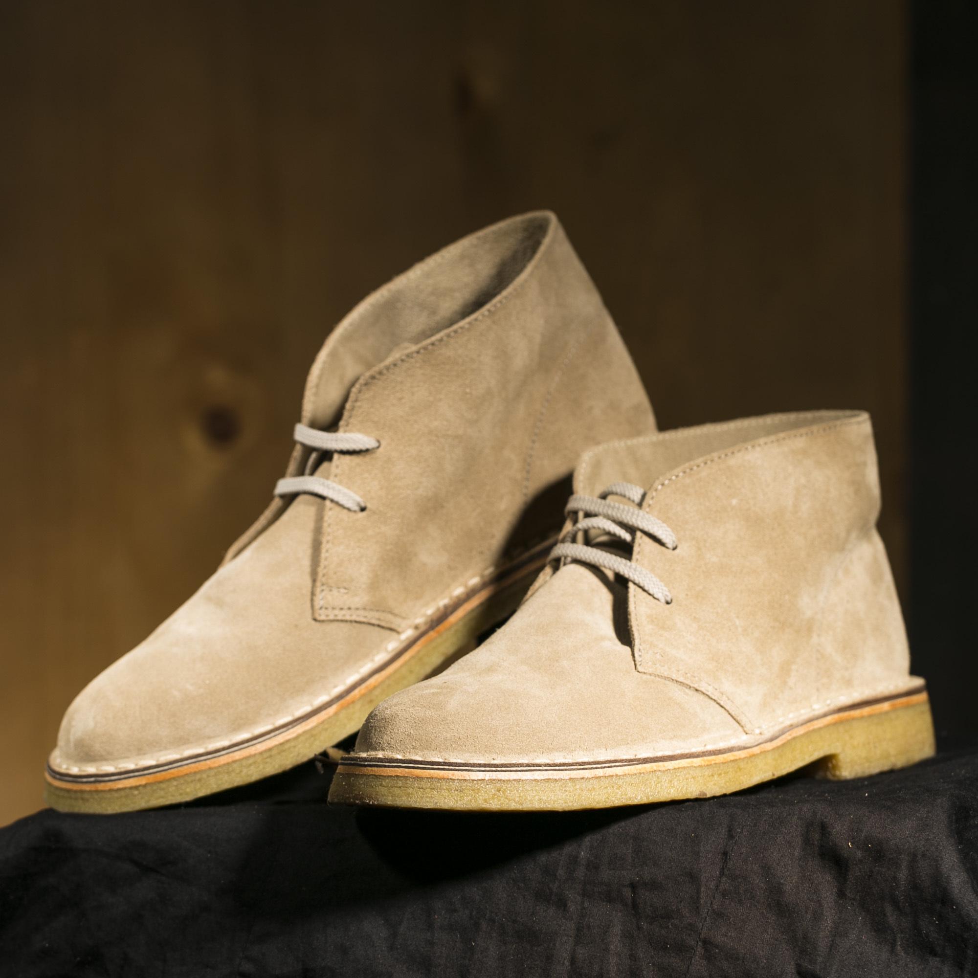 意大利原产alico 阿里克都市商务休闲翻绒小牛皮鞋男士 米白 42.5