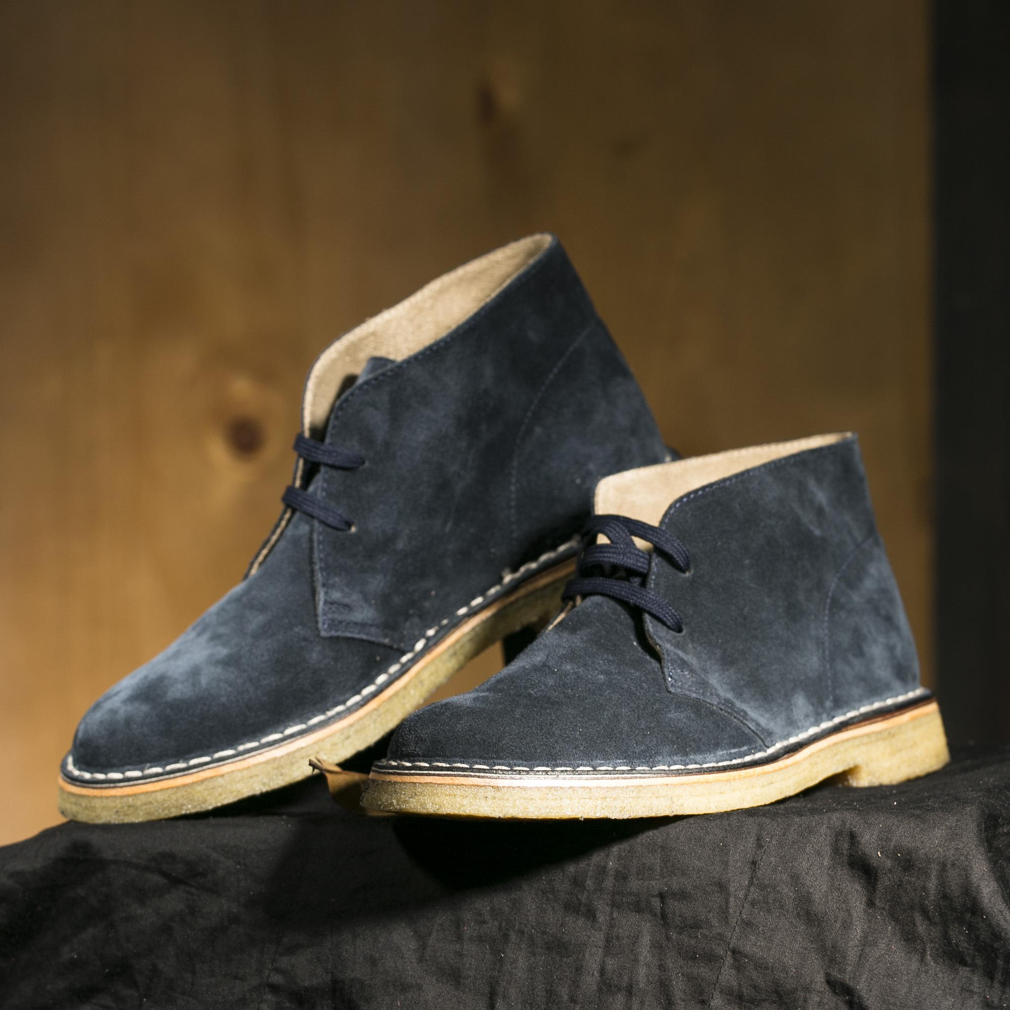 意大利原产alico 阿里克都市商务休闲翻绒小牛皮鞋男士 深蓝 42.5