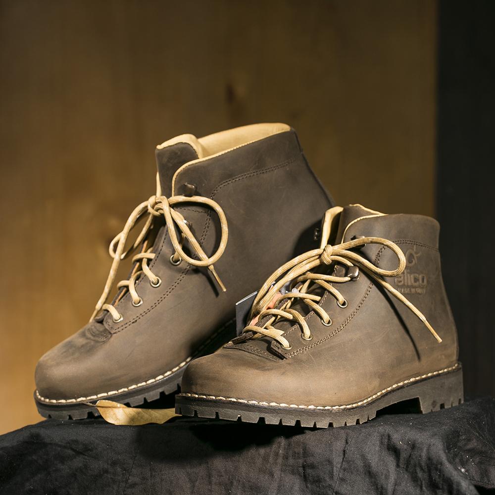 意大利原产alico 阿里克专业户外BELLUNO司战之神耐磨鞋男士 深棕色 42.5