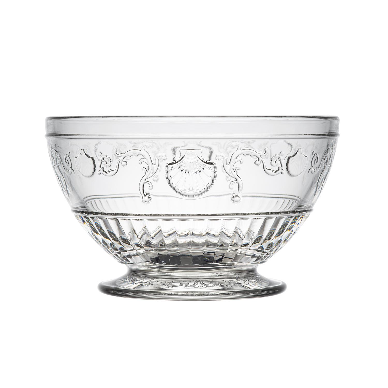 法国原产La Rochère凡尔赛系列玻璃碗沙拉碗透明碗 M