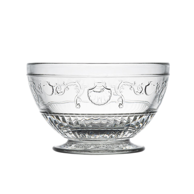 法国原产La Rochère凡尔赛系列玻璃碗沙拉碗透明碗 S
