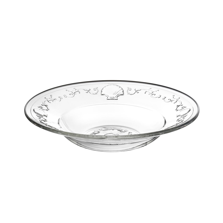 法国原产La Rochère凡尔赛系列玻璃盘水果盘汤盘24cm 透明