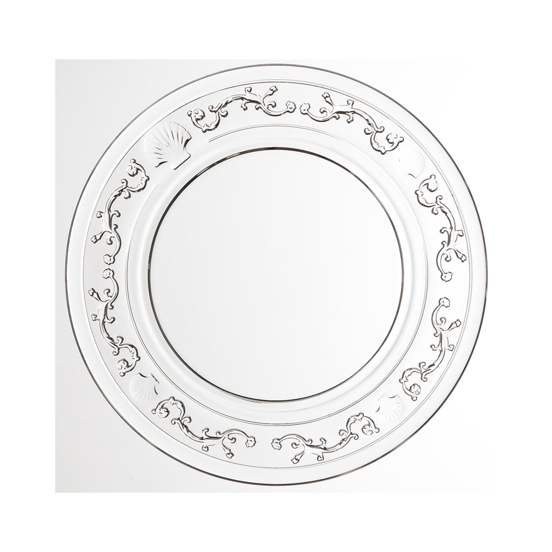 法国原产La Rochère 凡尔赛系列玻璃盘水果盘点心盘 19cm 透明
