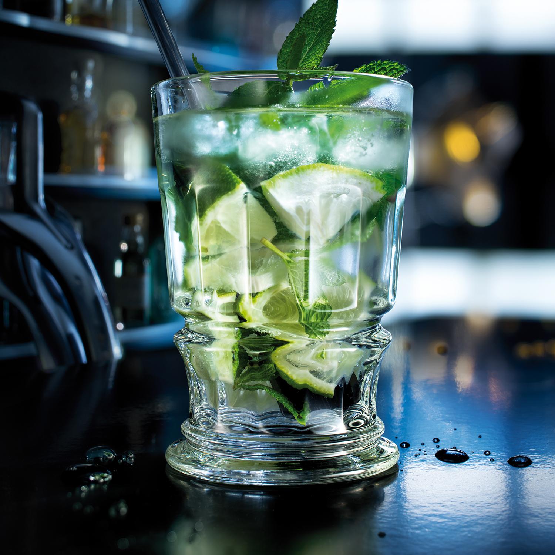 法国原产La Rochère PRESSES系列宽口杯玻璃杯酒杯 透明