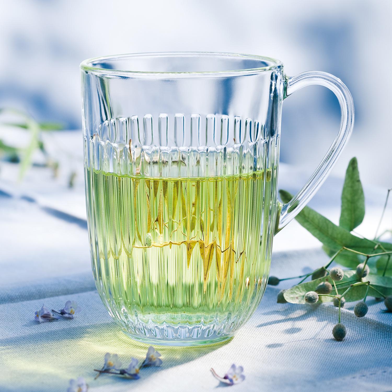 法国原产La Rochère竖条纹马克杯玻璃杯酒杯 M