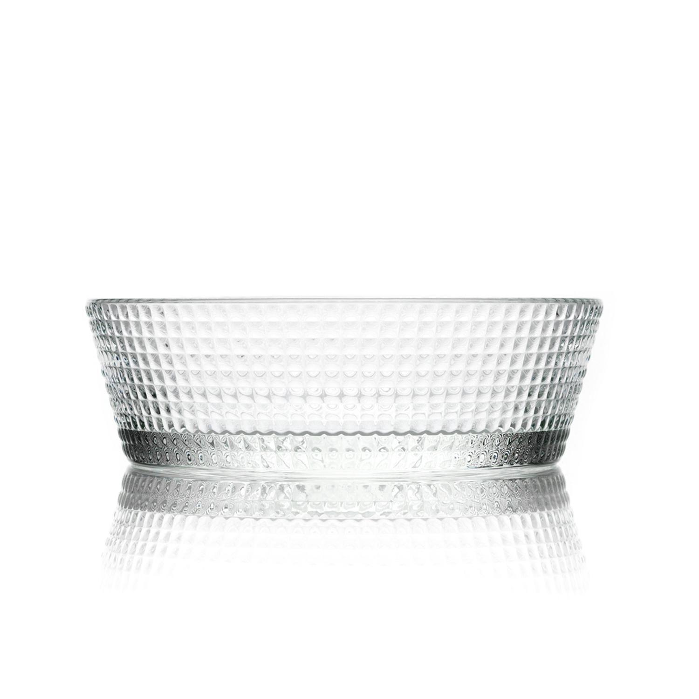 法国原产La Rochère Blossom系列沙拉碗玻璃碗水果碗 透明