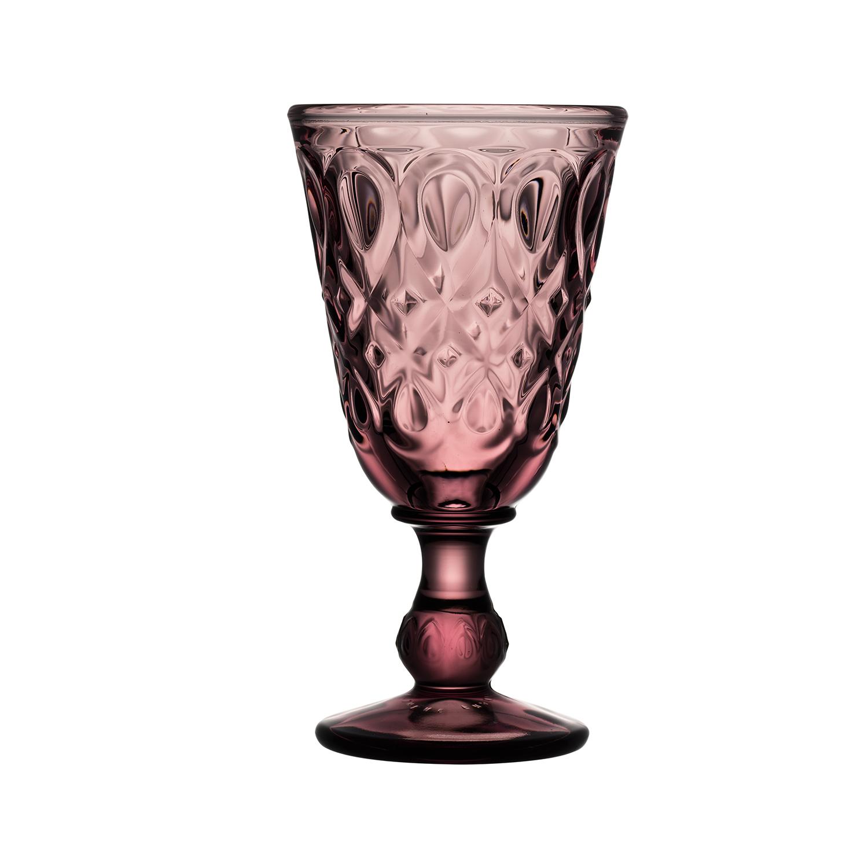 法国原产La Rochère里昂系列高脚杯酒杯玻璃杯 紫色