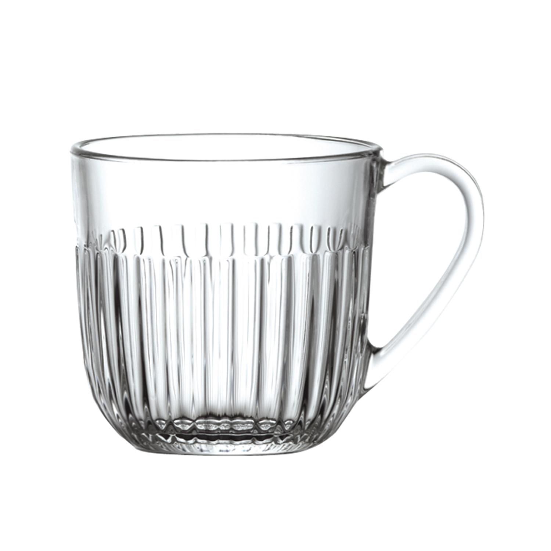 法国原产La Rochère竖条纹马克杯玻璃杯酒杯 S