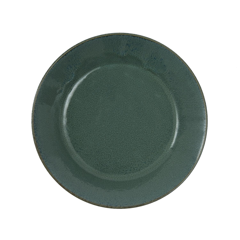 日本原产Aito Natural color美浓烧陶瓷摩登色餐碟 绿色 S