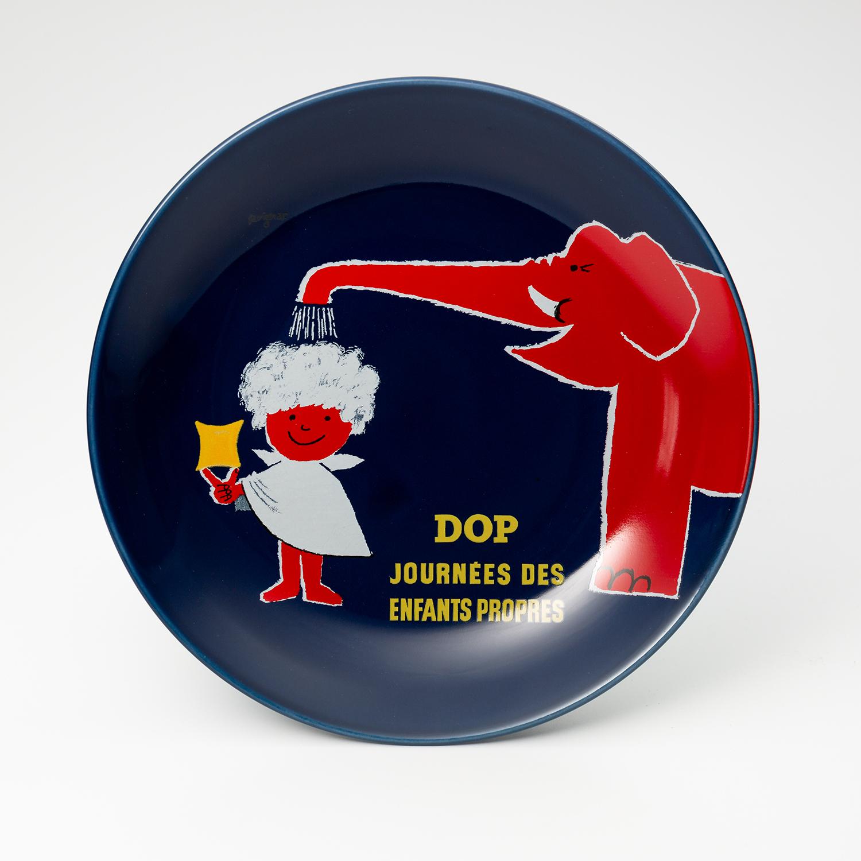 日本原产AITOsavignac系列美浓烧陶瓷餐碟大象花洒 花色