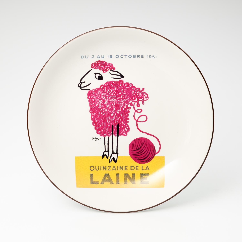 日本原产AITOsavignac系列美浓烧陶瓷餐碟美羊羊 花色
