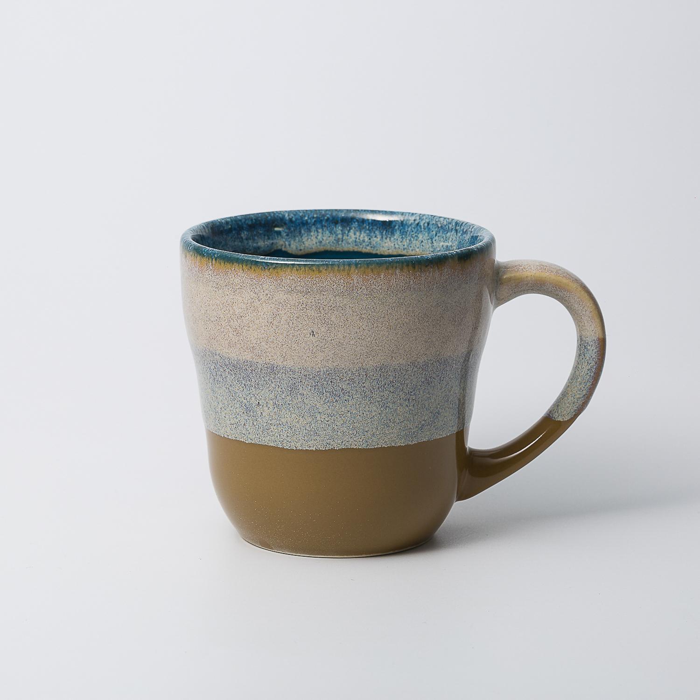 日本原产AITOGlaze works美浓烧陶瓷马克杯 孔雀绿