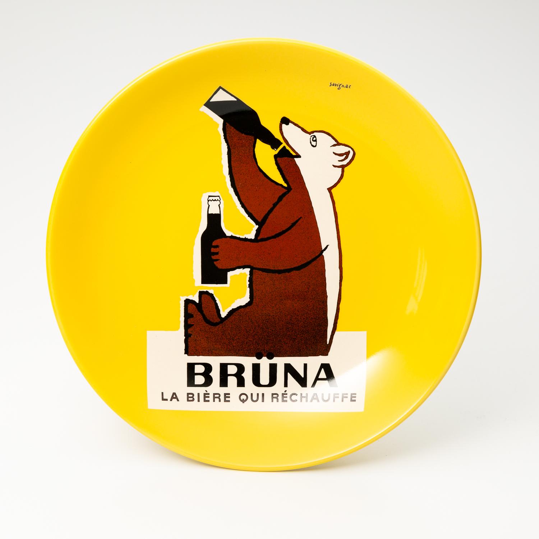日本原产AITOsavignac系列美浓烧陶瓷餐碟贪吃熊BRUNA 花色