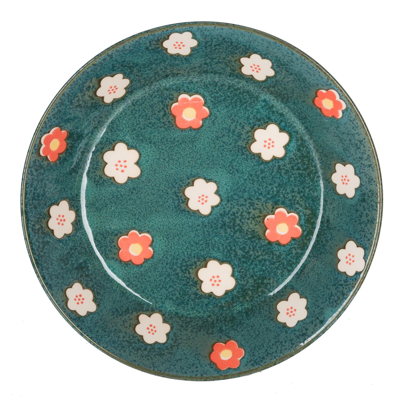 日本原产AITO Nordic Flower美浓烧陶瓷碗碟花朵春意 餐碟