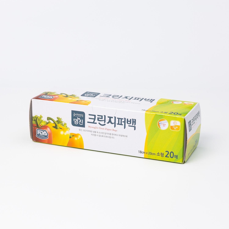 韩国原产Myungjin密封保鲜袋干净拉链袋 20pcs 透明 L