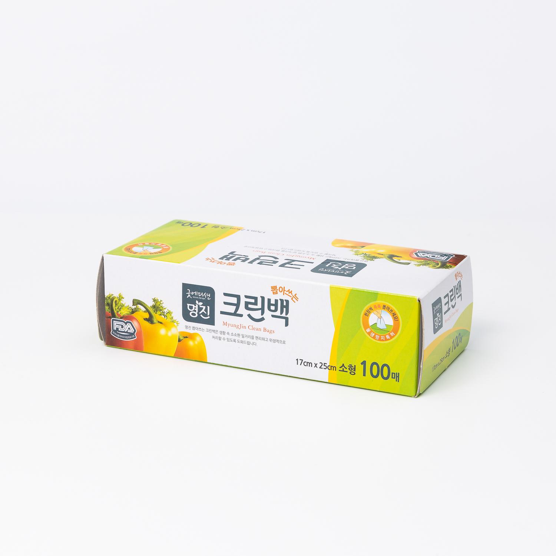 韩国原产Myungjin抽取式保鲜袋食品袋包装袋 100pcs 透明 L