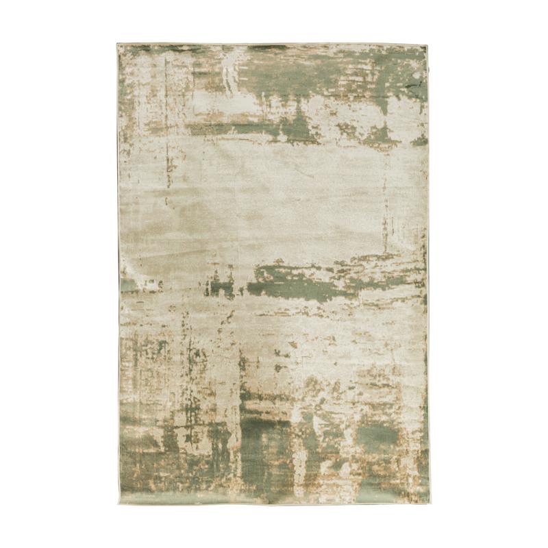 比利时原产DC carpets客厅茶几仿丝地毯地垫伊斯法罕系列 绿色 1.6M×2.3M