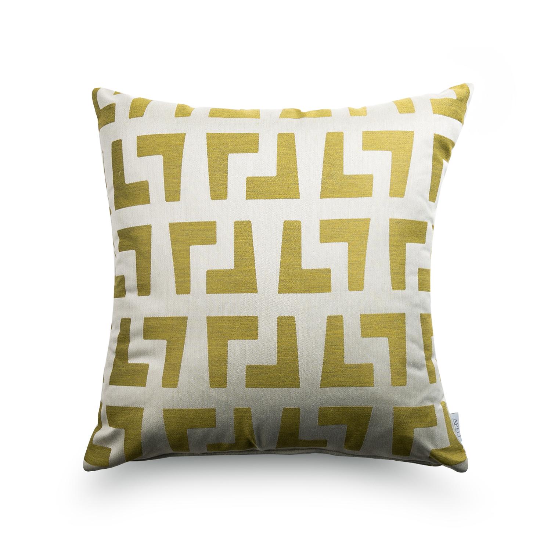 德国原产APELT可拆洗抱枕沙发靠垫枕头转角提花 浅棕色