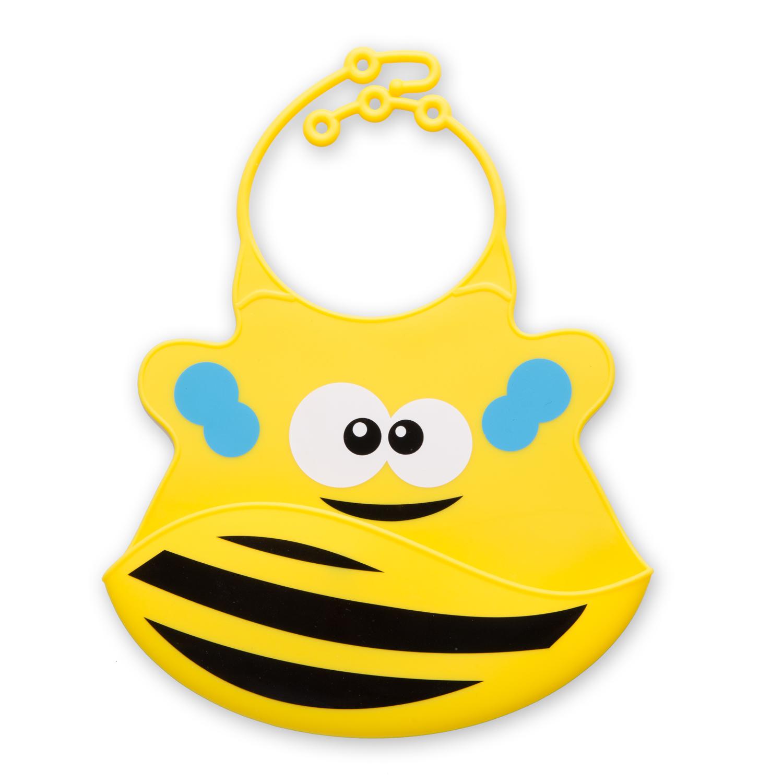 瑞典原产Virgel Technology卡通硅胶围嘴围兜饭兜小蜜蜂 黄色