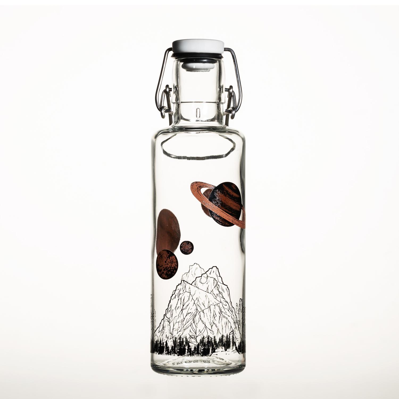 德国原产soulbottles玻璃水具 天空无垠 水瓶 0.6L 透明