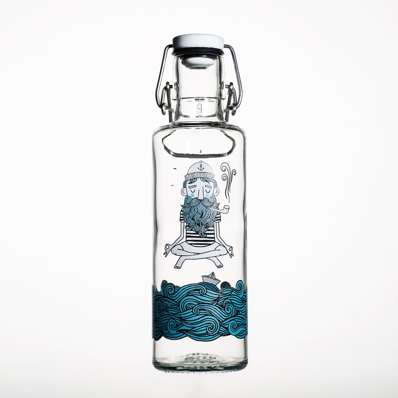 德国原产soulbottles玻璃水具  心灵水手 水瓶 0.6L 透明