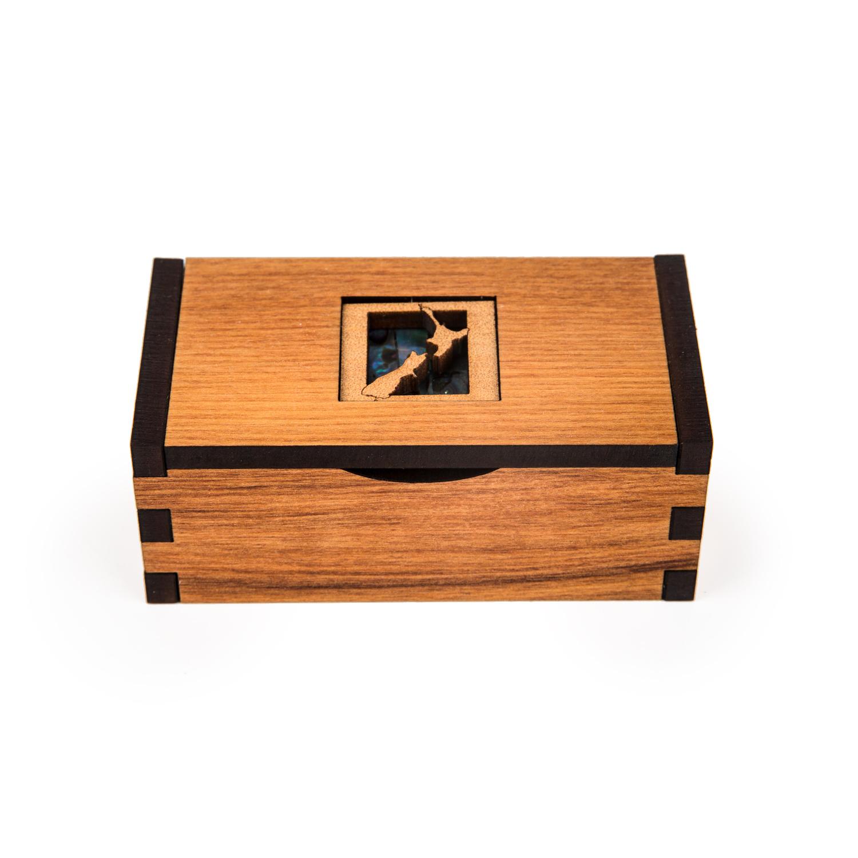 新西兰原产Ian Blackwell芮木方形收纳盒礼盒地图中号 棕色