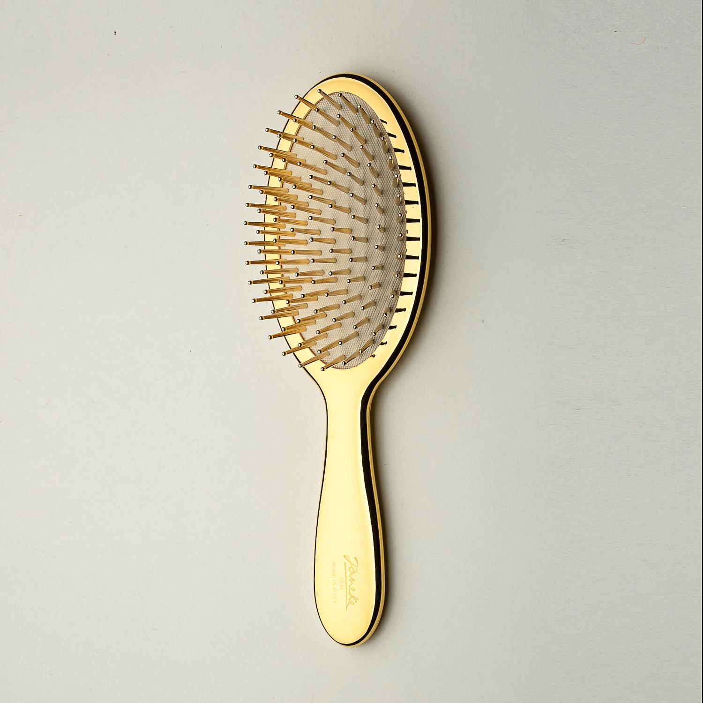 意大利原产Janeke璀璨金系列气垫按摩梳美发梳 金黄 M