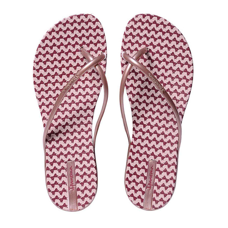 巴西原产IPANEMA3D蝴蝶藤蔓系列女式人字拖拖鞋女款凉拖 红格 39/40建议选大一码