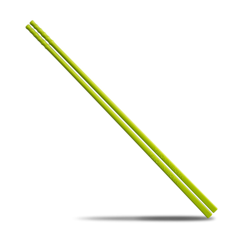 韩国原产BBTTO创意健康防霉硅胶筷子 绿色