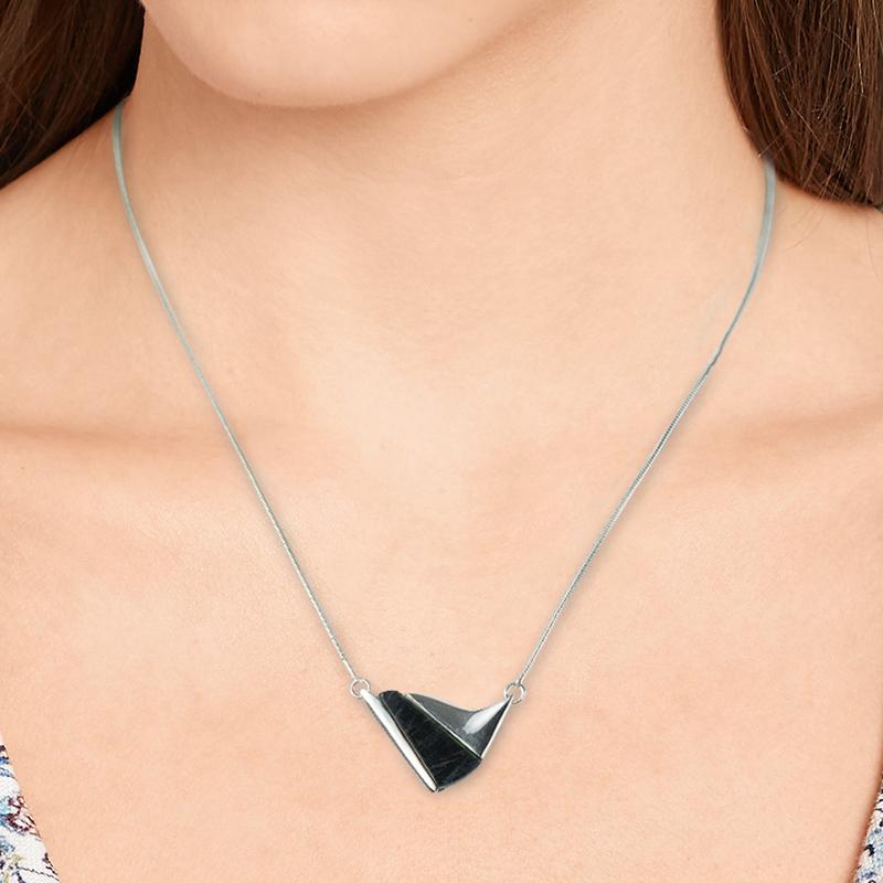 芬兰原产SPEKTRIKORU 饰品光谱石Swell项链项链银饰吊饰 彩色
