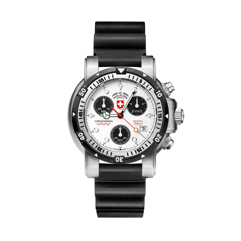 瑞士原产CHARMEX夏魅时海狼1号潜水表瑞士军表男表1000米防水 夜光手表
