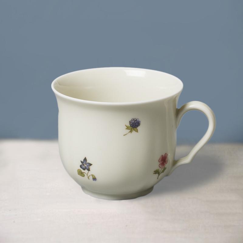 德国原产Seltmann Weiden瓷器餐具象牙色带彩色小花系列 茶杯210ml