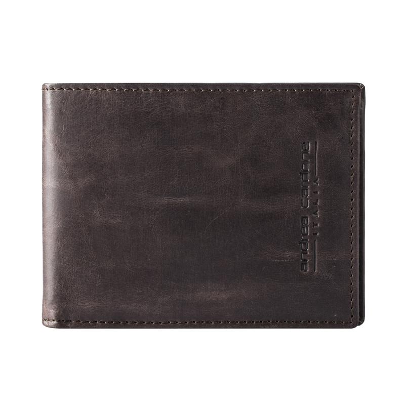 意大利原产andrea cardone小牛皮男士短款商务钱夹钱包 棕色