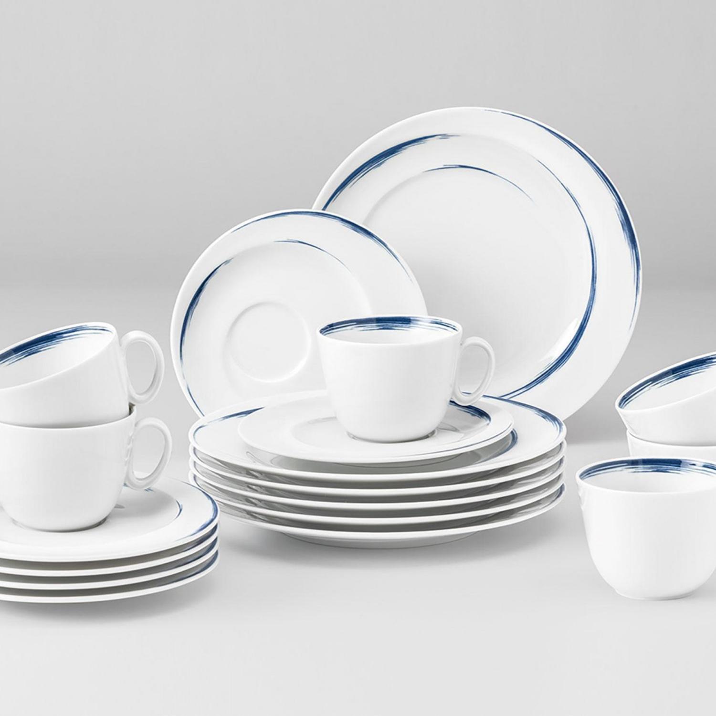 德国原产Seltmann Weiden瓷器餐具蓝描系列 餐盘 大盘28cm