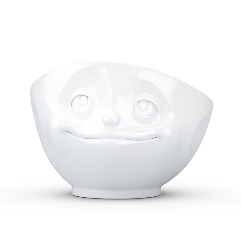 德国Tassen陶瓷卡通表情碗马特碗500ml热恋 白色