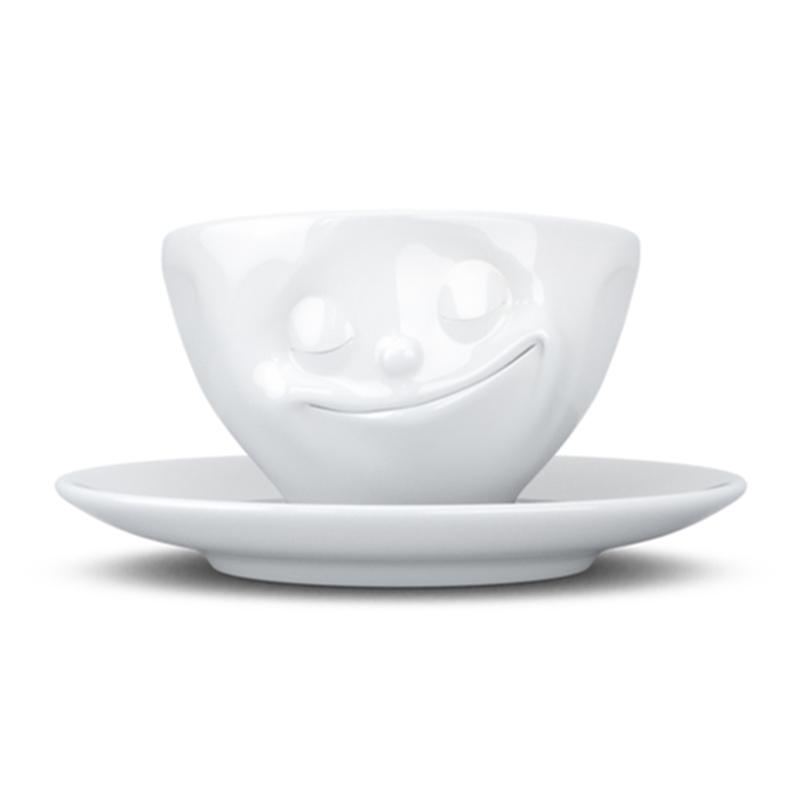 德国原产Tassen陶瓷卡通表情碗咖啡碗咖啡杯200ml 幸福
