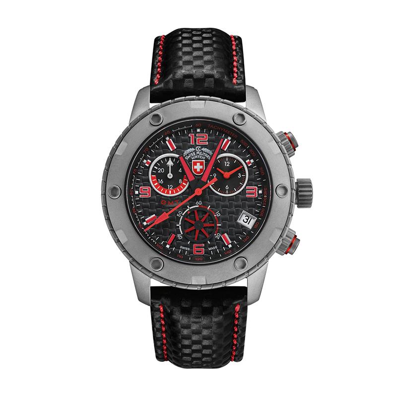 瑞士军表charmex赛车运动系列手表男表腕表军表石英  27461 黑色