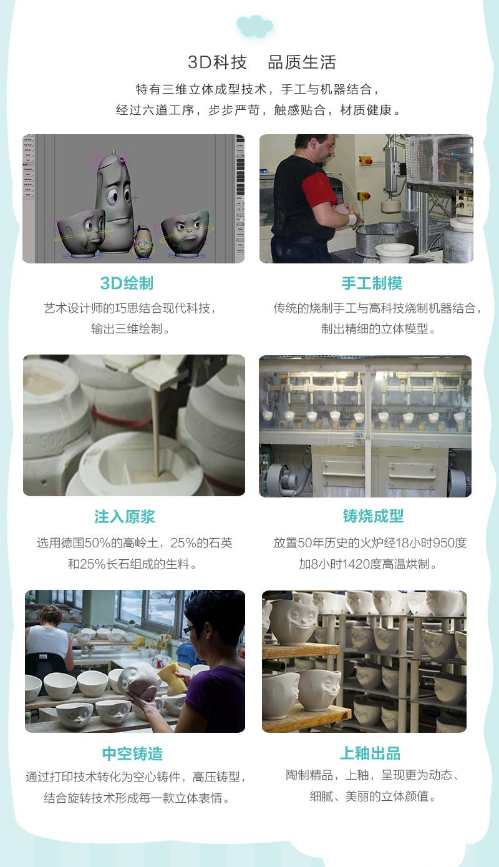 德国原产Fiftyeight Tassen陶瓷卡通碗咖啡碗咖啡杯200ml委屈 白色