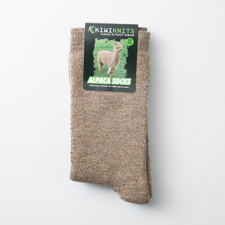 新西兰原产KIWIKNITS 驼羊毛男士袜子厚袜 浅褐色 M