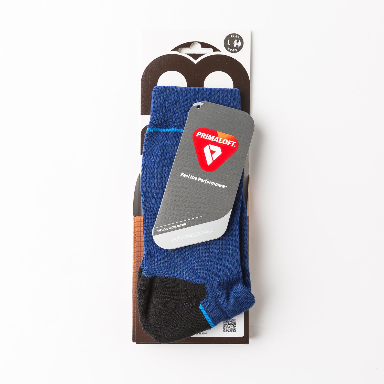 意大利原产MICO户外徒步登山专用防扭护踝运动袜短袜袜子 蓝色 L
