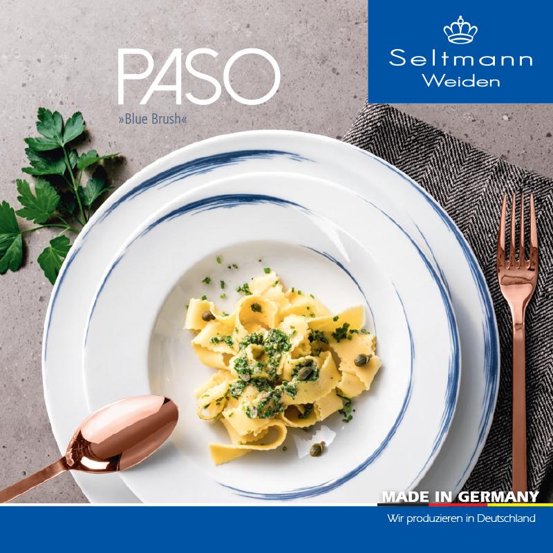 德国原产Seltmann Weiden瓷器餐具蓝描系列 餐盘 早餐盘17cm