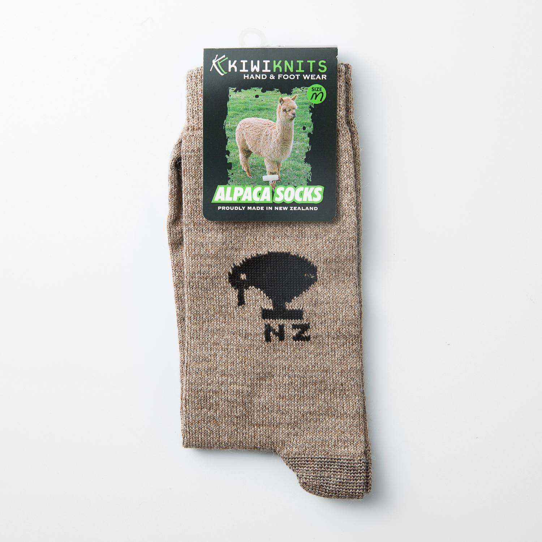 新西兰原产KIWIKNITS 驼羊毛男士袜子薄袜 浅褐色 M