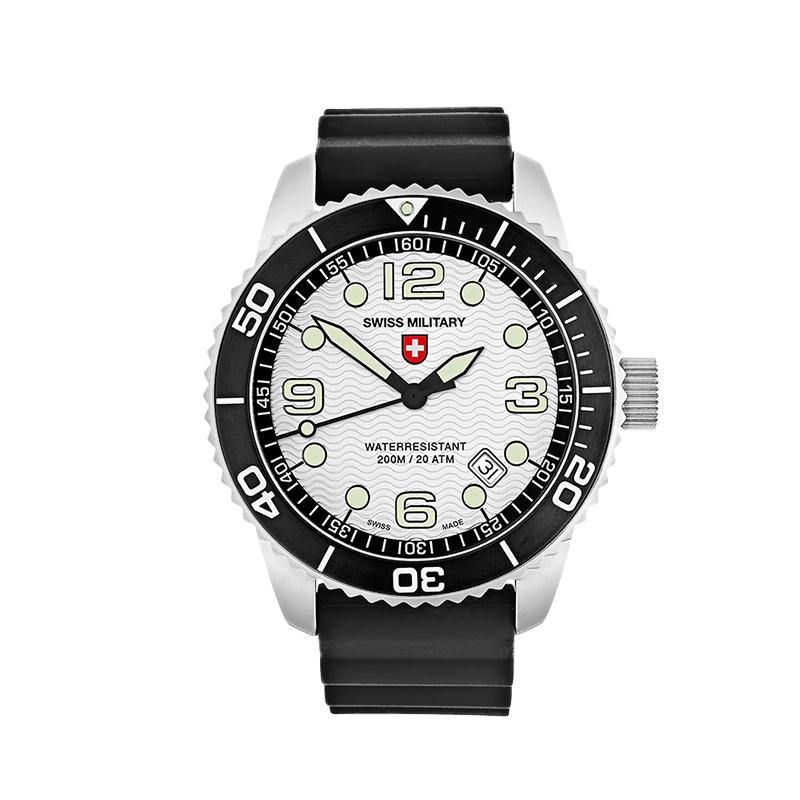 瑞士军表charmex海军系列潜水表防水表男表手表石英  27001 白色