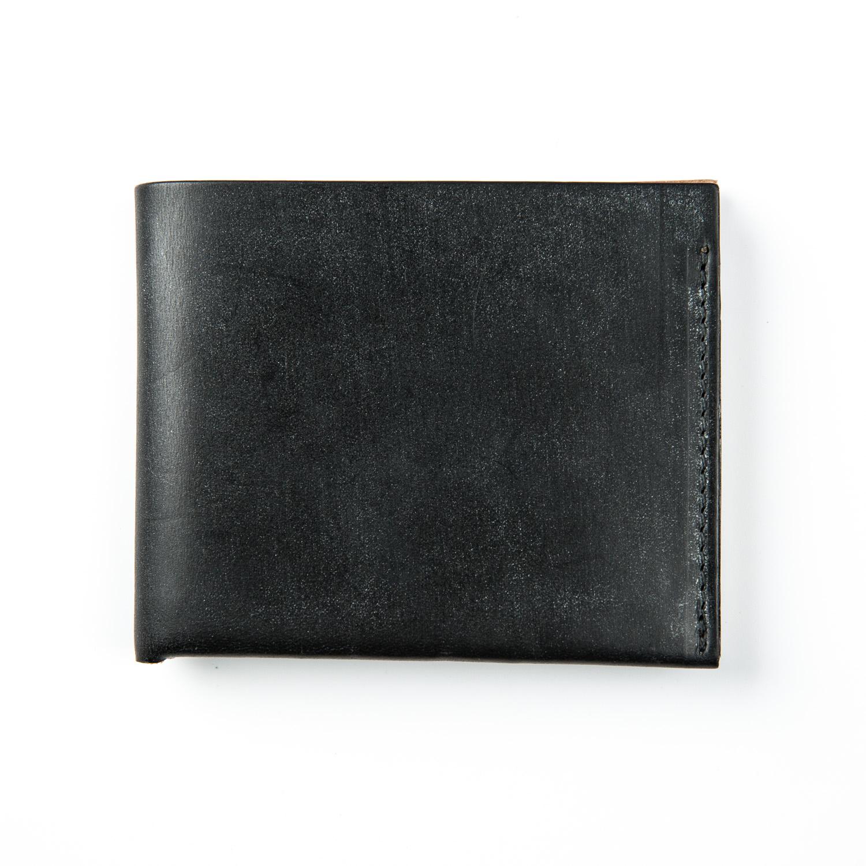 英国原产CHERCHBI 手工马勒皮真皮钱包男士短款商务钱夹皮夹 黑色