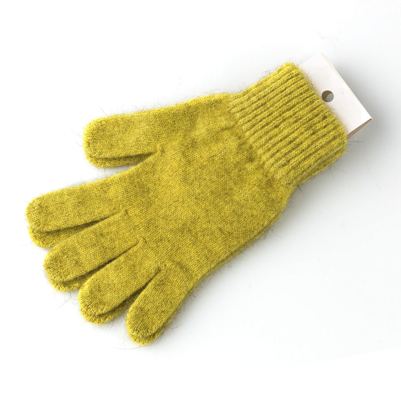 新西兰原产MERINOMINK 美利奴羊毛负鼠毛男女士针织手套 金黄 小号