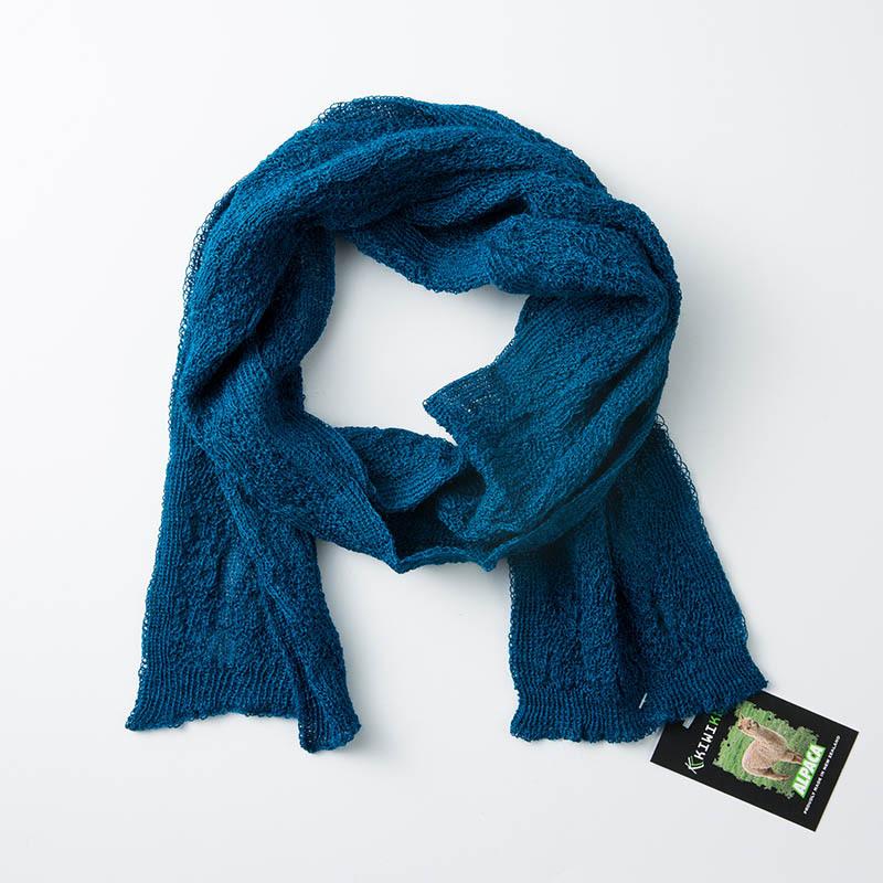 新西兰原产KIWIKNITS 驼羊毛围巾薄款宝石蓝 宝蓝